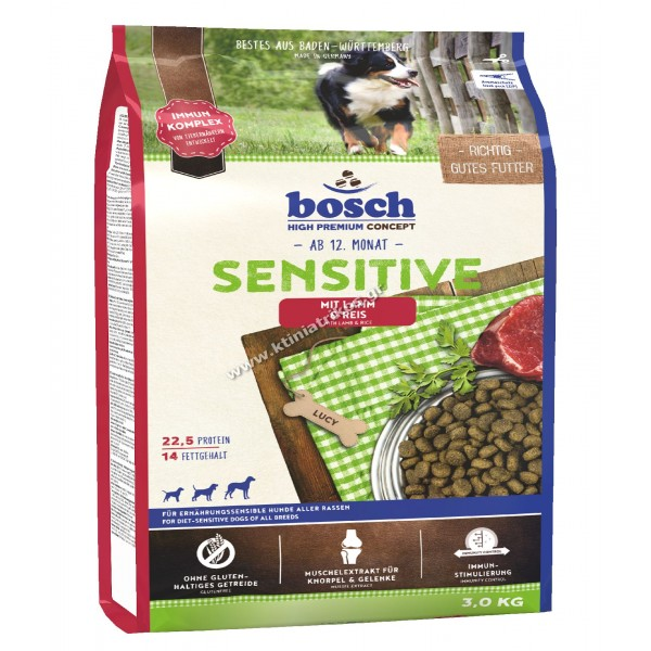 bosch 'Sensitive Lamb & Rice', 3Kg