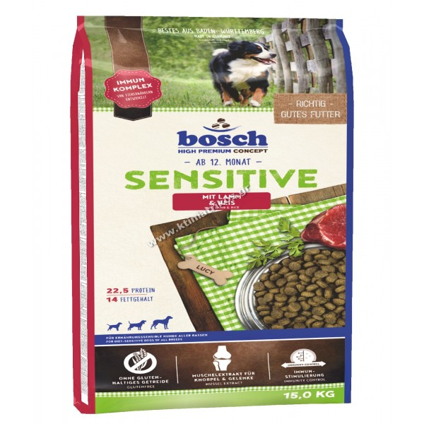 bosch 'Sensitive Lamb & Rice', 15Kg