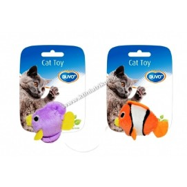 Blue fish cat toy