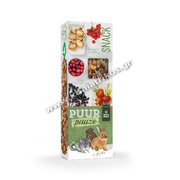 Snack Puur Stick Rodents, φρούτα του δάσους, 110g