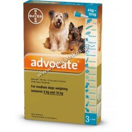 Antiparasitic pipette 'Advocate Dog', Small, 3pcs