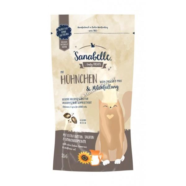 Snack Sanabelle crispies 'Κοτόπουλο & Γάλα', 55gr