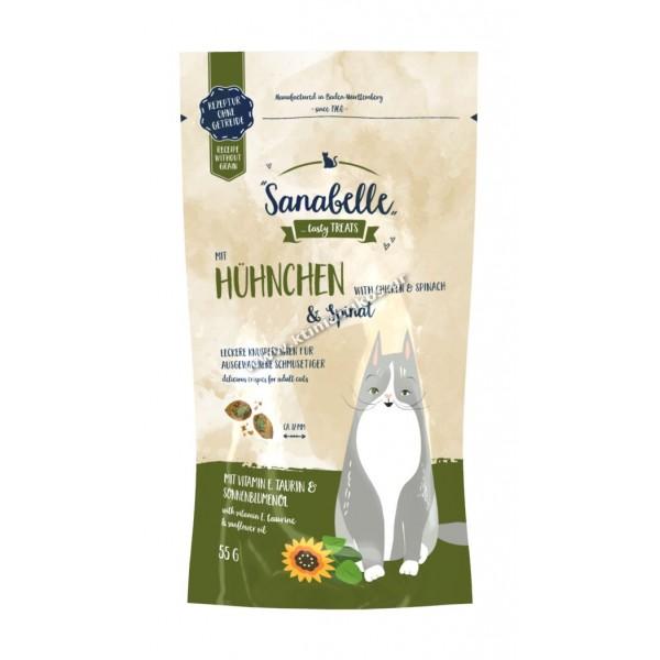 Snack Sanabelle 'Κοτόπουλο & Σπανάκι', 55gr
