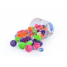 Cat toy 'Rattle balls', 60pcs